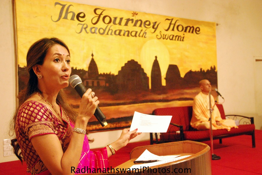 Radhanath Swami at Journey Home Fan Club, Mumbai