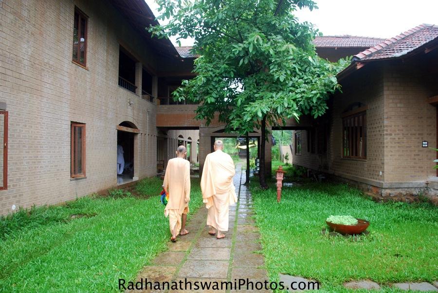 Radhanath Swami with Sanat Kumar Prabhu