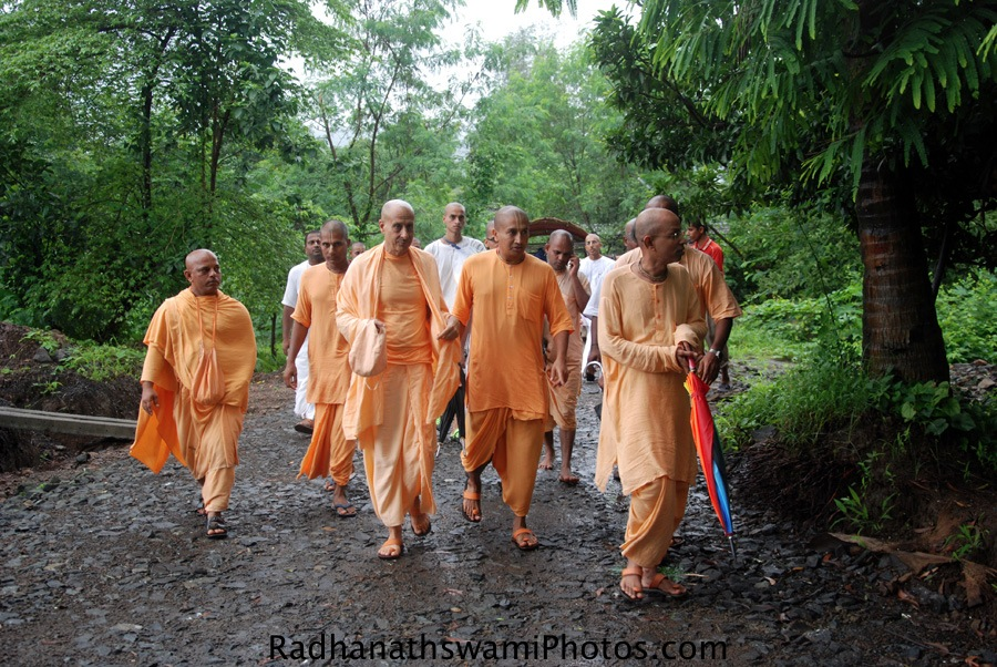 Radhanath Swami's visit to GEV