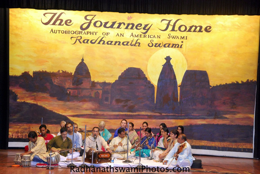 Kirtan during the Journey home book Launch at KIIT University, Orrisa
