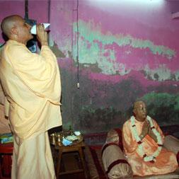 Radhanath Swami at BIrth Place of Srila Prabhupada