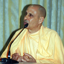 Radhanath Swami during Oriya Book Launch of The Journey Home