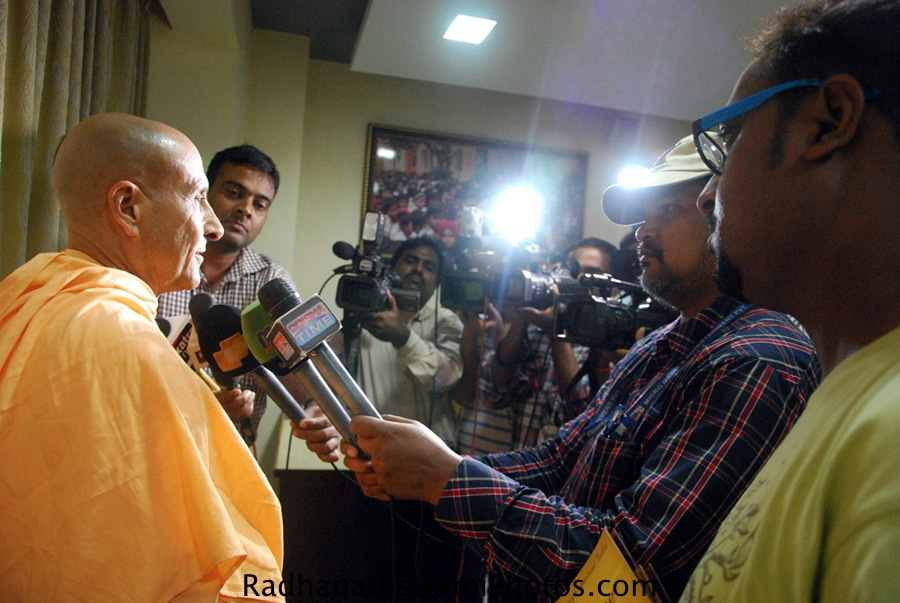 Radhanath Swami interviewed by Media
