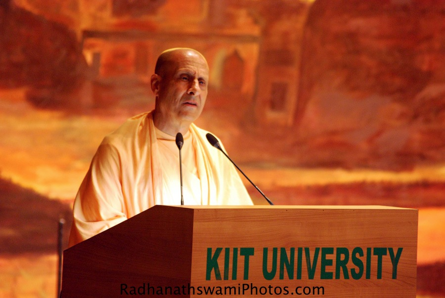 Talk by Radhanath Swami during Book Launch