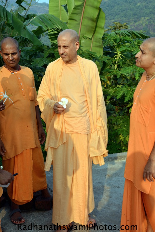 Radhanath Swami Maharaj at Wada Farm, India