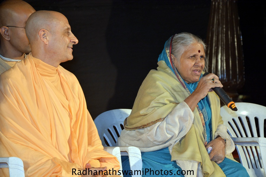 Radhanath Swami and Sindhutai