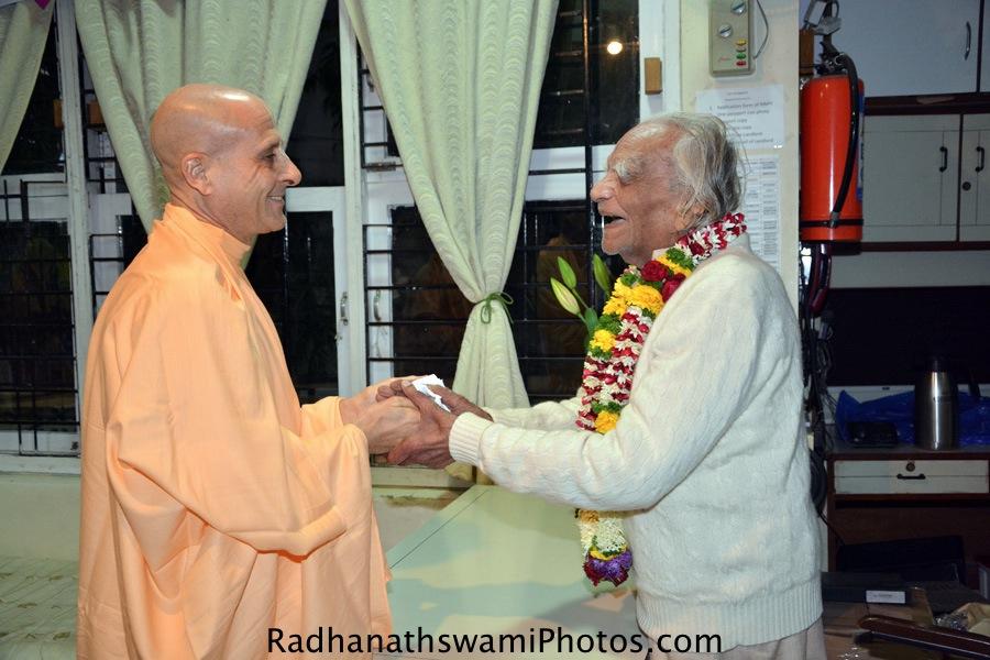 Radhanath Swami with BKS Iyengar