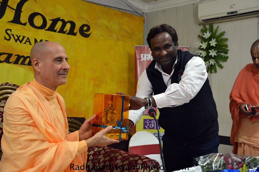 Radhanath Swami at Patna Book launch