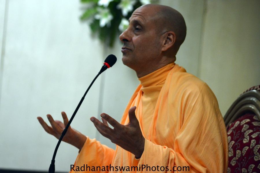 Talk by Radhanath Swami during the book of Anokha safar
