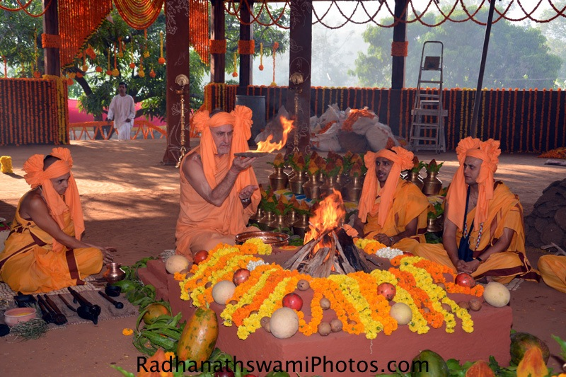 Fire Sacrifice for the Temple opening at GEV