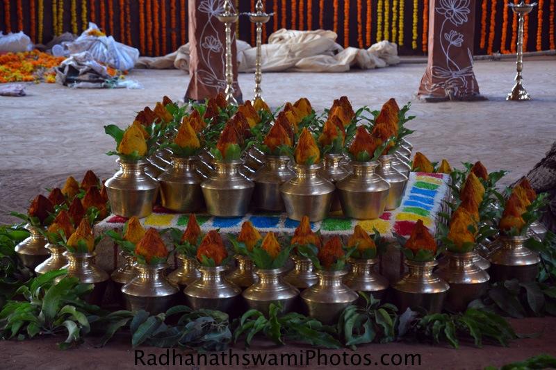 Kalasam for abhishek of the Lord
