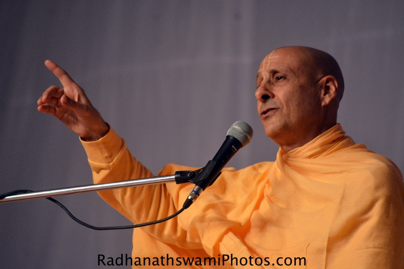 Radhanath Swami Maharaj at International Yoga Festival, Rishikesh