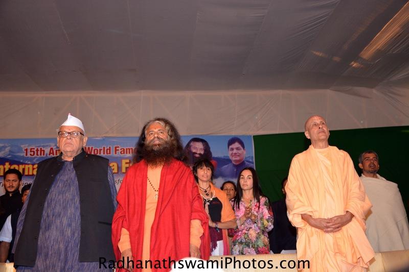 Radhanath Swami at International Yoga Festival
