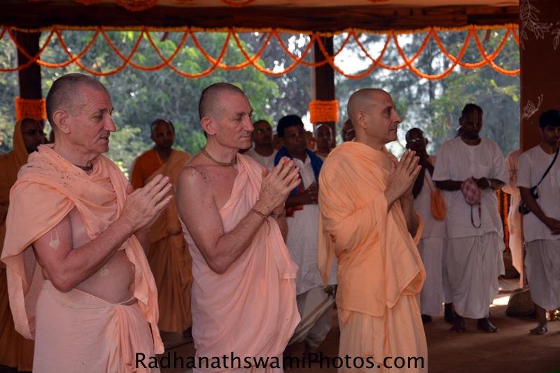 Radhanath Swami with Jananivas prabhu and Pankajanghri prabhu