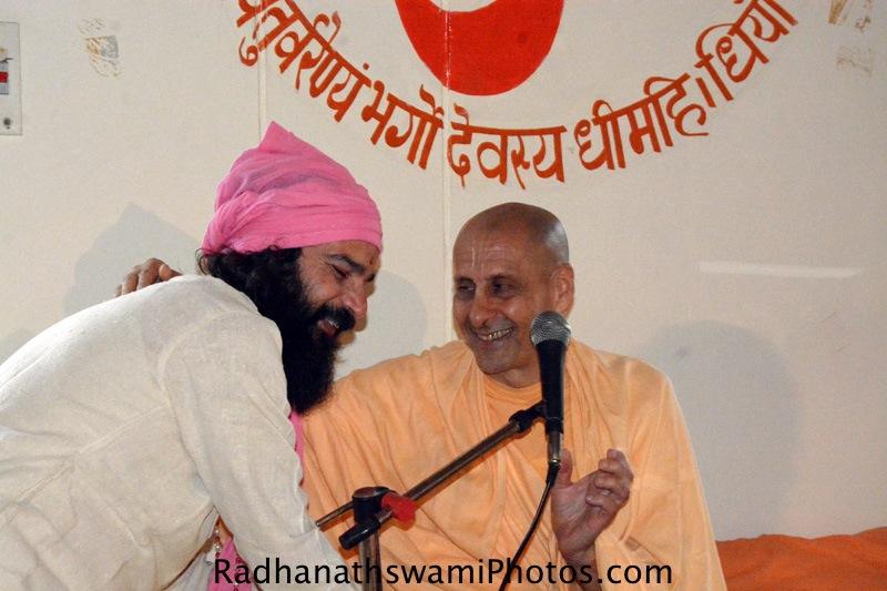Radhanath Swamiat Rishikesh
