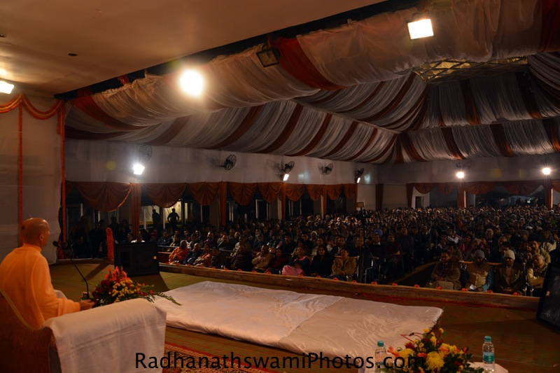 Talk by Radhanath Swami during Ranchi Book launch