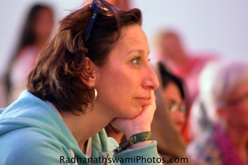 Yoga student at International Yoga Festival, Rishikesh