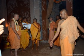 Devotees taking deities to rest