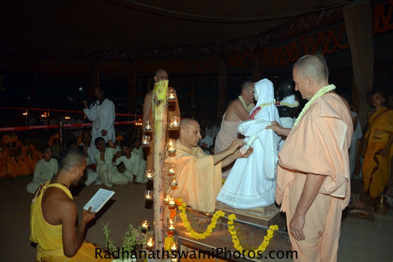 Radhanath Swami at GEV Temple