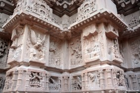 Sculpting on temple wall