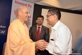 Radhanath Swami at CII Event