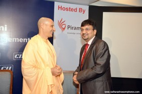 Radhanath Swami at CII Event_