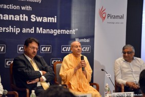 Radhanath Swami with Ajay piramal and Kishore biyani