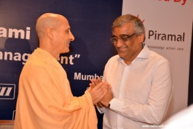 Radhanath Swami with Kishore Biyani