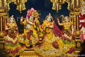 Radha Gopinath flower dress - Radhanath Swami