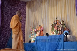 Radhanath Swami praying to their Lordships