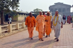 Radhanath Swami taking a walk