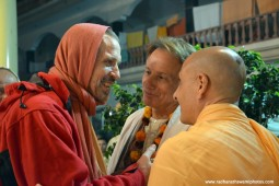 Radhanath Swami with sacinandana Swami