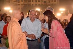 Radhanath Swami and Juhi Chawla