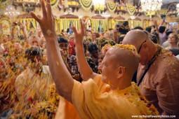 Radhanath Swami during pushya Abhishek festival