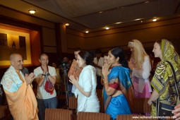 Radhanath Swami meeting guests