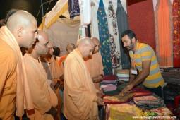 Radhanath Swami visiting stalls at Pandal2
