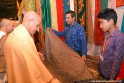 Radhanath Swami visiting stalls at Pandal4
