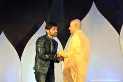 Radhanath Swami with Himesh Reshamiya