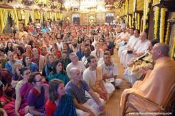 Talk by Radhanath Swami before Pushya Abhishek