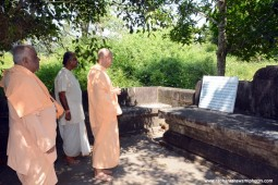 Radhanath Swami at birthplace of Srila Madhvacharya