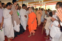 Radhanath Swami with pejavar math swami